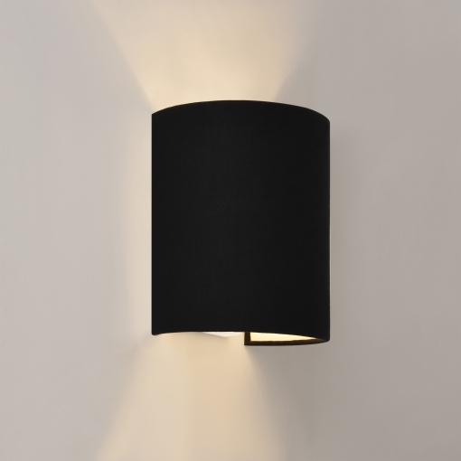 [lux.pro]® Lámpara De Pared - 20 X 17,5 X 13 Cm - Diseño Moderno - Aplique De Pared - Luz Bidireccional - Tela - Negro