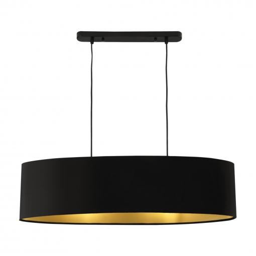 [lux.pro]® Lámpara Colgante - Moderna - Diseño - Altura 132 Cm - Iluminación Interior - Luz Efectiva - Negro - 2x E27