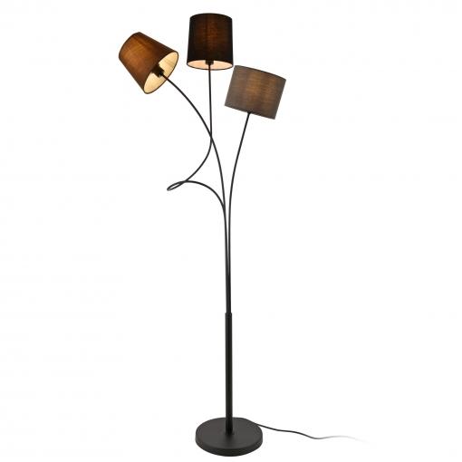 [lux.pro]® Lámpara De Pie Treviso Moderna Diseño - Altura 146 Cm - Iluminación Interior - Luz Efectiva - Marrón Negro Gris - 3 X E14
