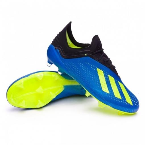 online store 3cb0a ffef4 Botas De Futbol Adidas X 18.2 Suela Fg Azul Adulto