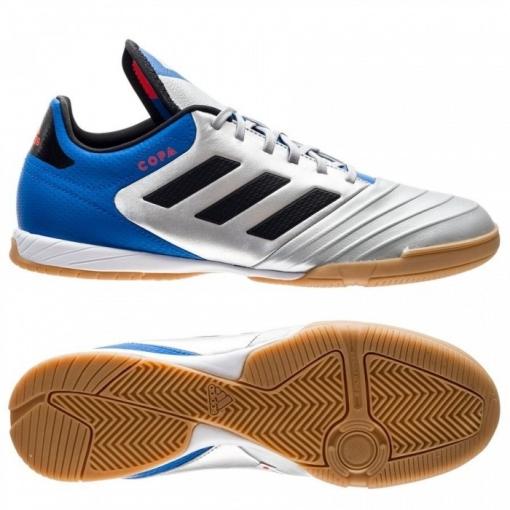 Botas De Fútbol Sala Adidas Copa Tango 18.3 Team Mode Suela Lisa Plata  Adulto bc13b2de2b70b