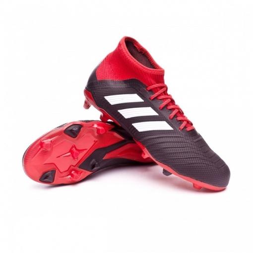 277336b2227bd Botas De Fútbol Adidas Predator 18.1 Fg Negro rojo Niño
