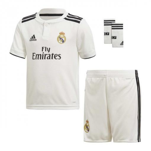 Conjunto Adidas Real Madrid 18 19 Blanco Niño  933d6bd76d986