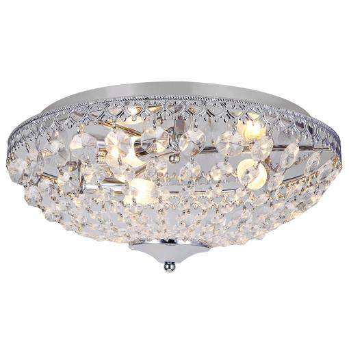 [lux.pro] Luz De Techo - Lámpara De Techo Colgante - Cristales De Arte Centelleantes (3 X E14) - Cromo