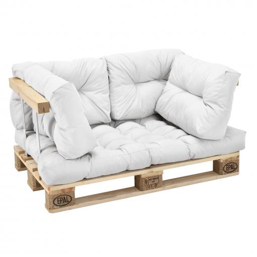 Cojines De Casa.En Casa Set De 5 Cojines Para Sofa Pale Cojin De Asiento Cojines De Respaldo Acolchados Blanco Para Europale In Outdoor