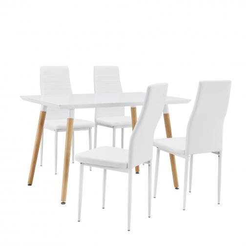 en.casa] Mesa De Comedor / Mesa De Cocina (120x70cm) Con 4 Sillas ...