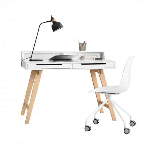 Escritorio retro silla blanco mesa de ordenador consola dise o las mejores Mesas de ordenador de diseno