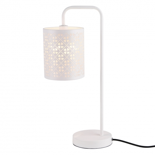 [lux.pro] Lámpara De Mesa Blanca De Metal - Diseño Elegante Y Original