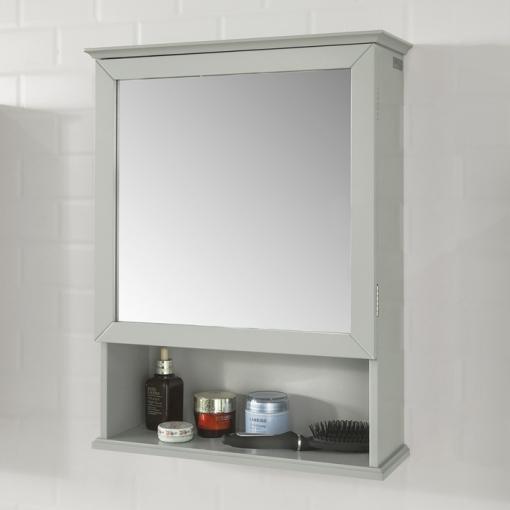 Armario Con Espejo Cuarto Baño 46 X 17 X 62 Cm