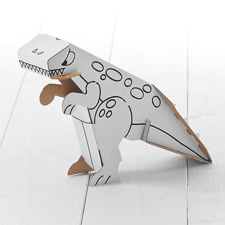 Dinosaurio De Cartón Para Colorear | Las mejores ofertas de Carrefour