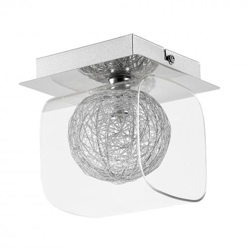 [lux.pro] Plafón Moderno - Luz De Techo (1xg9) - Cromo/plata - 15,5cm - Iluminación Colgante