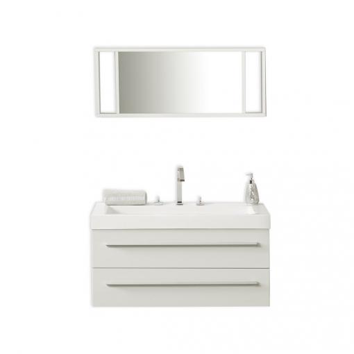 Mueble De Baño, Blanco, Lavabo,armarios, Espejo, Barcelona