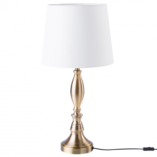 Lámpara De Mesa Blanco Crema Hodmo