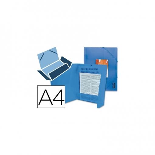 cb86b43790b Carpeta Liderpapel Gomas Solapas 34982 Polipropileno Din A4 Azul Serie  Frosty