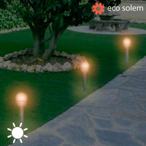 Lampara Solar Eco Solem Para Jardin O Exterior Las Mejores Ofertas
