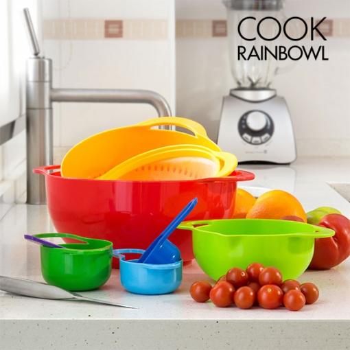 Set De 8 Utensilios De Cocina Cook Rainbowl De Plástico Resistente ...