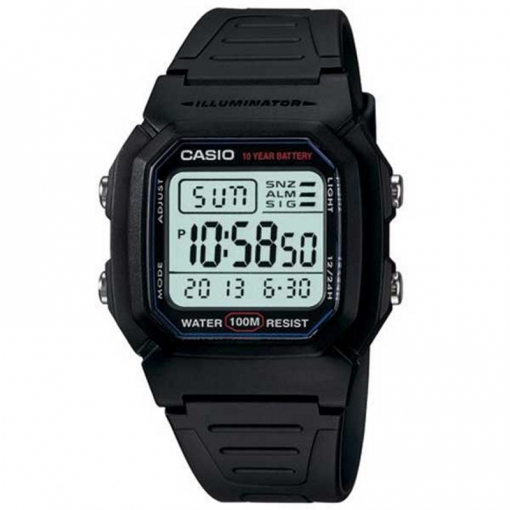 Digital Para De Reloj Con Pulsera Casio W HombreModelo 1av 800h XiTPwkuOZ
