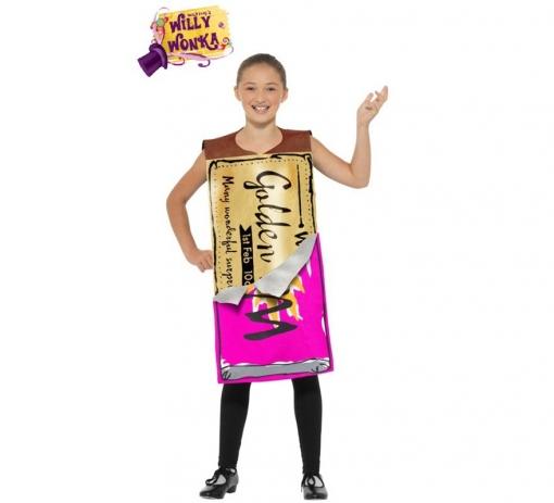 Disfraz De Barrita Ganadora De Willy Wonka De Roald Dahl Para Niña