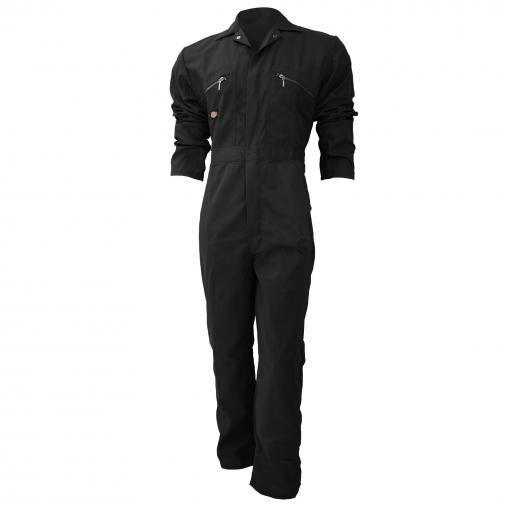 Dickies - Mono De Trabajo Con Cierre Frontal De Cremallera Modelo Redhawk Regular Para Hombre (102cm) (negro)