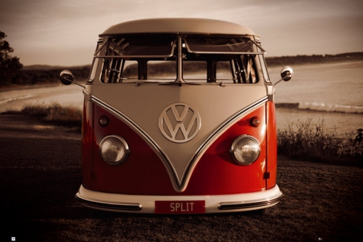 Maxi Poster Vw (brendan Ray) Red Kombi