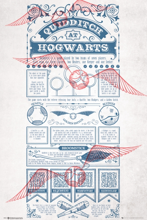 Maxi Poster Harry Potter Quidditch At Hogwarts