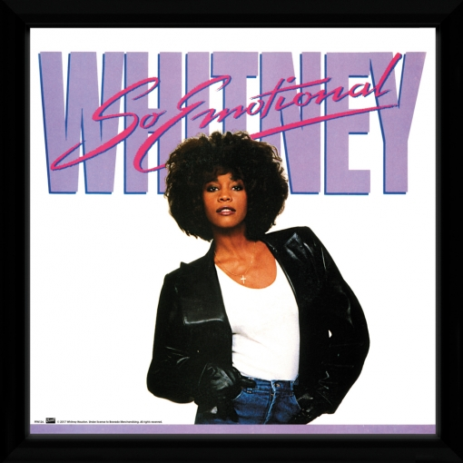Portada De Album Enmarcada Whitney Houston So Emotional 30x30 Cm