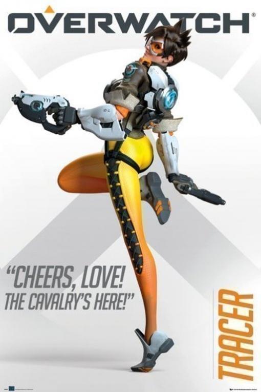 Poster Overwatch Tracer Cheers Love   Las mejores ofertas de Carrefour