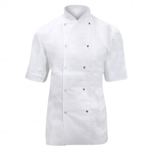 Dennys - Chaqueta De Chef/cocinero De Manga Corta Para Mujer (xl) (blanco)