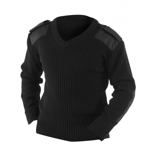 Yoko - Jersey Diseño De Trabajo Con Cuello En Pico Modelo Nato Para Hombre Caballero (pequeña (s)) (negro)