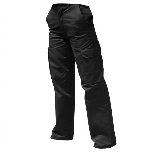 Harbour Lights - Pantalones De Trabajo Modelo Cargo Para Mujer (28 X L) (negro)