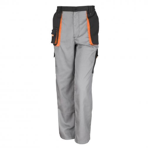 Result - Pantalones De Trabajo Unisex Modelo Work-guard (transpirable Y Cortavientos) (2xl) (gris/negro/naranja)