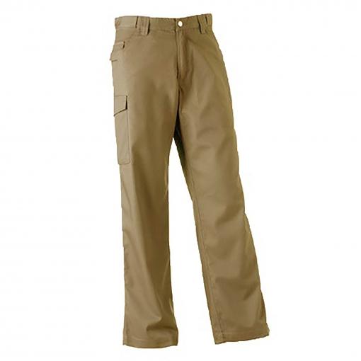Russell - Pantalones De Trabajo  Modelo Polycotton Twill Hombre Caballero (longitud Pierna Reg) (cintura 91cm X Reg) (negro)