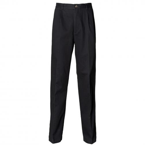 Henbury - Pantalones Chinos Con Pliegues Para Trabajar Con Recubrimiento Resistente A Las Manchas De Teflon® Hombre Caballero (cintura 76cm X Short) (negro)