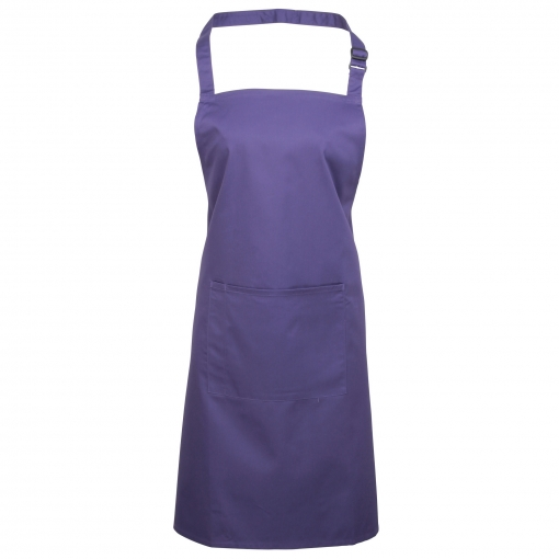 Delantal Con Bolsillo (talla Única) (púrpura)