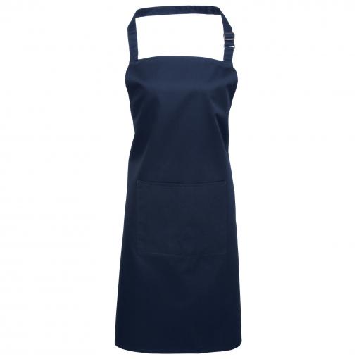 Delantal Con Bolsillo (talla Única) (azul Marino)