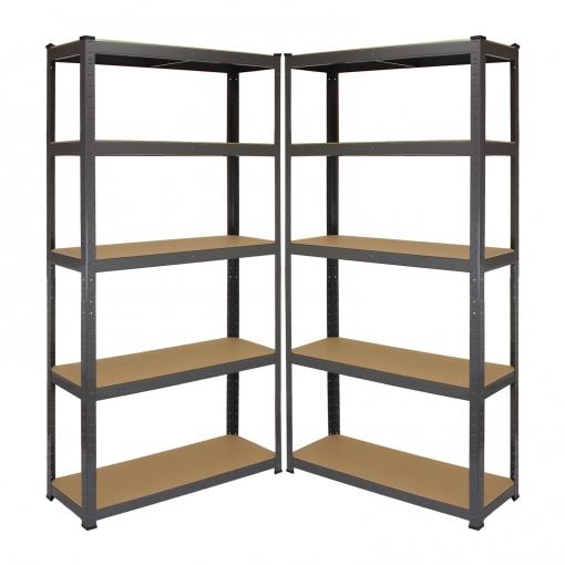 Estanter as metalicas acero zincado sin tornillos grises - Estanterias metalicas para libros ...