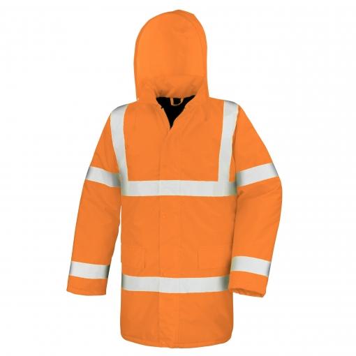 Result Core - Abrigo Reflectante High Viz Motorway (impermeable Y Cortavientos) (2xl) (naranja)