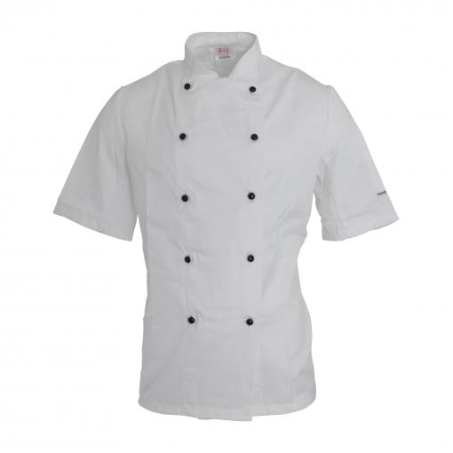 Dennys - Chaqueta Afd Unisex De Cocinero/chef Con Tecnología Thermocool (s) (blanco)