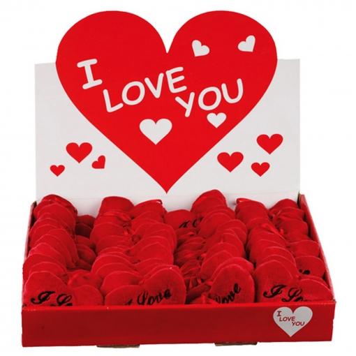 Roxan Valentines - Corazones Para Colgar De Tejido De Peluche Con Mensaje I Love You (18cm) (rojo)