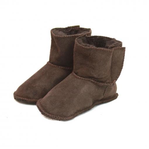 Eastern Counties Leather - Botas De Piel De Oveja Y Cierre Con Solapa Para Bebés