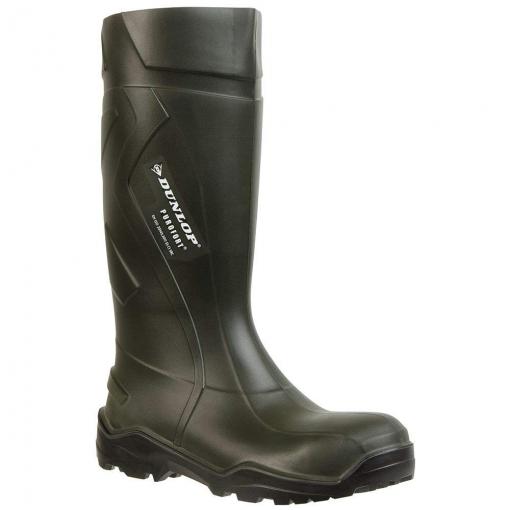 Dunlop - Botas De Seguridad Estilo Wellington Unisex Modelo Purofort Plus Para Adultos (42 Eu) (verde)