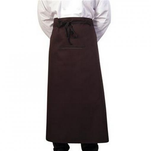 Bonchef - Delantal Largo De Medio Cuerpo Para Chef/camarero (talla Única) (negro)