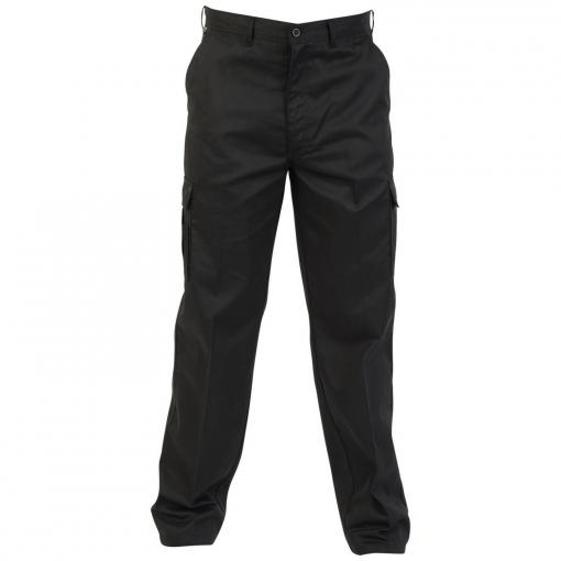 Absolute Apparel - Pantalones De Trabajo Estilo Combat Para Hombre (122 Cm - L) (negro)