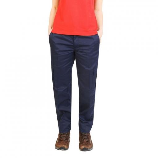 Absolute Apparel - Pantalones De Trabajo Estilo Cargo Para Mujer (42 Eu) (azul Marino)