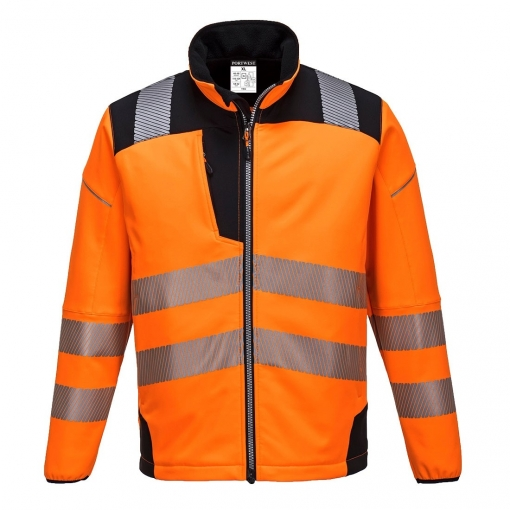 Portwest - Chaqueta Softshell Reflectante Pw3 Para Hombre Caballero (l) (naranja/negro)