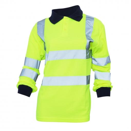 Yoko - Polo/camisa De Seguridad De Manga Larga De Alta Visibilidad (tallas Grandes Hasta 6xl) Para Mujer Señora - Trabajar / Reflectante (paquete De 2) (mediana (m)) (naranja Butano)