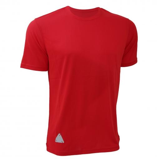 Rty Enhanced Vis - Camiseta De Manga Corta De Alta Visibilidad De Deporte Modelo Enhanced Caballero Hombre  - Running / Gym (paquete De 2) (mediana (m)) (rojo Brillante)