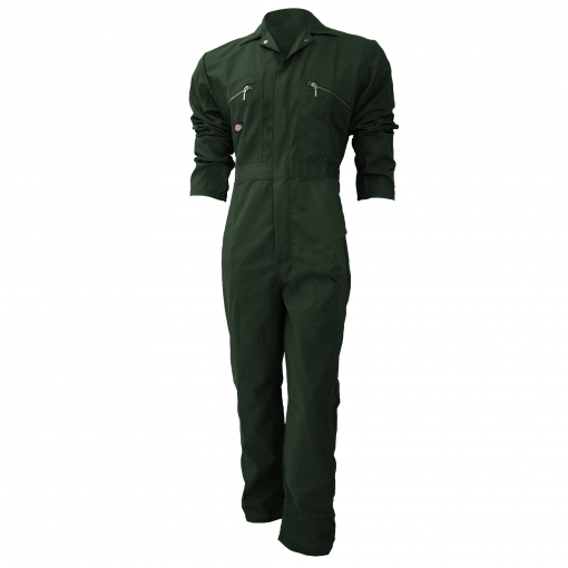 Dickies - Mono De Trabajo Con Cierre Frontal De Cremallera Modelo Redhawk Regular Para Hombre (paquete De 2) (122cm) (verde Botella)
