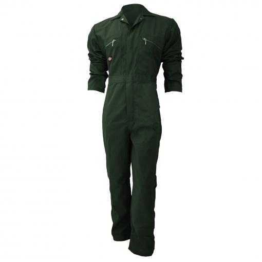 Dickies - Mono De Trabajo Con Cierre Frontal De Cremallera Modelo Redhawk Regular Para Hombre (paquete De 2) (127cm) (verde Botella)