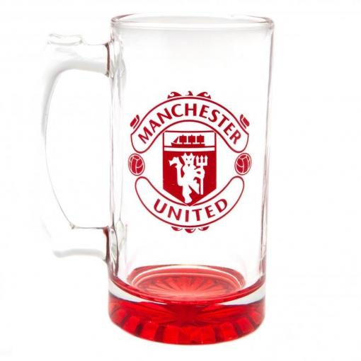 Manchester United Fc - Jarra De Cerveza De Cristal (tamaño Único) (rojo)